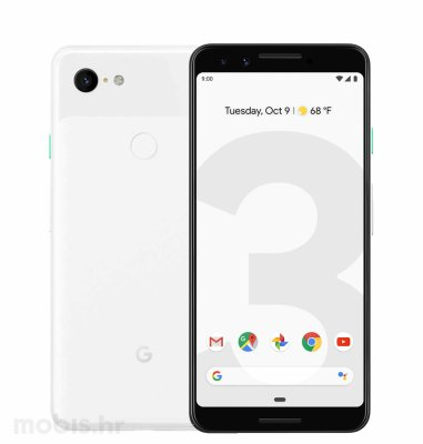 Google Pixel 3: bijeli