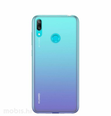 Huawei silikonska maska za Huawei Y7 2019: prozirna