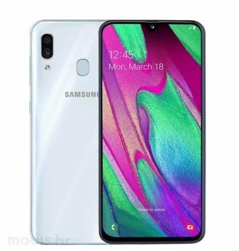 Samsung Galaxy A40 4GB/64GB Dual SIM: bijeli