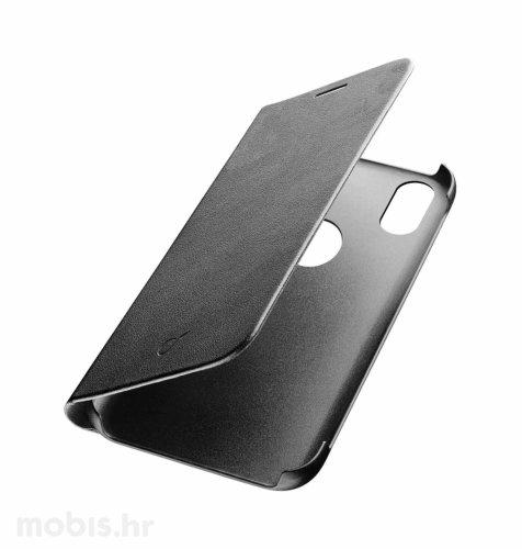 Preklopna kožna maskica za Huawei Y7 2019: crna