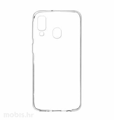 Silikonska maskica za Samsung Galaxy A20: prozirna