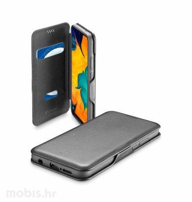 Preklopna kožna maskica za Samsung Galaxy A40 2019: crna