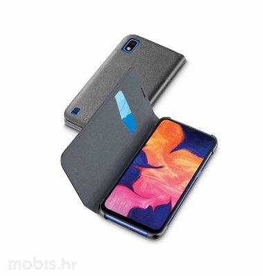 Preklopna kožna maskica za Samsung Galaxy A10 2019: crna