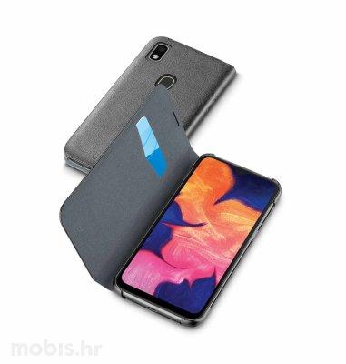 Preklopna kožna maskica za Samsung Galaxy A20E 2019: crna