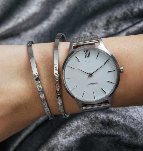 Bellabeat Time: srebrni