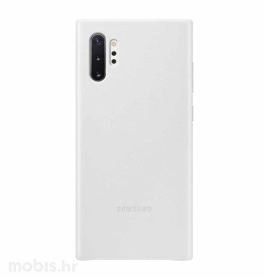 Kožna maska za uredaj Samsung Galaxy Note10+: bijela