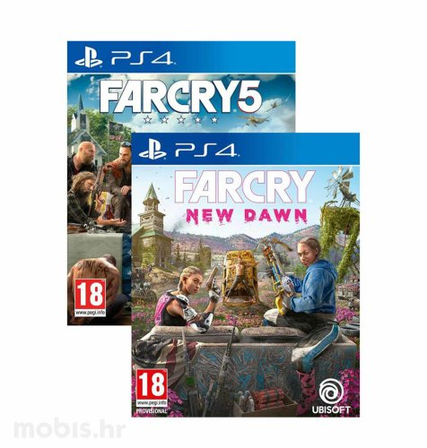 Far Cry 5 & Far Cry New Dawn set igara za PS4