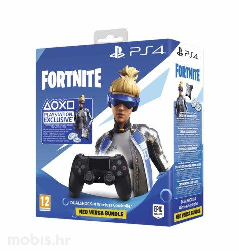 PS4 Dualshock kontoler v2 crni + Fortnite VCH (2019) 500 Vbucks