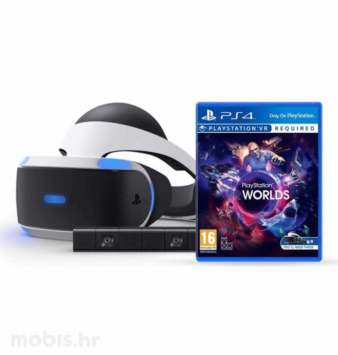 PlayStation VR + VR Worlds + kamera 2 + Demo Disc