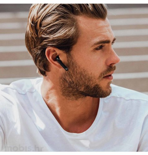 Happy Plugs Air 1 True Wireless bežične slušalice: crne