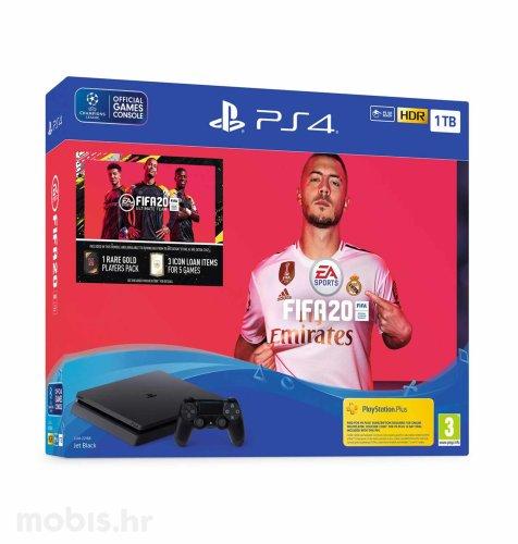 Playstation 4 1TB F Chassis + FIFA 20 + FUT 20 VCH + PS Plus 14 dana