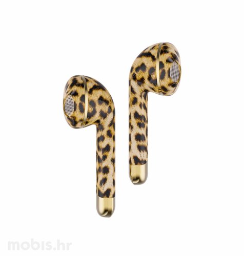 Happy Plugs Air 1 True Wireless bežične slušalice: leopard