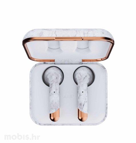 Happy Plugs Air 1 True Wireless bežične slušalice: bijele mramorne
