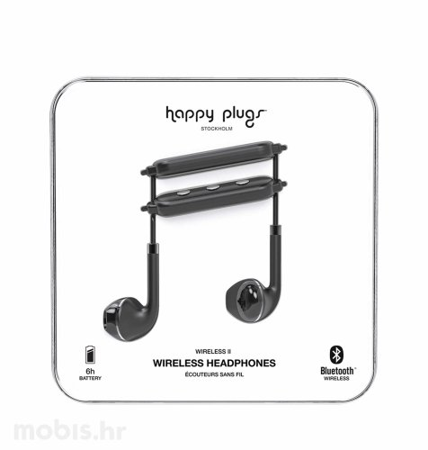 Happy Plugs wireless 2 bežične slušalice: crne