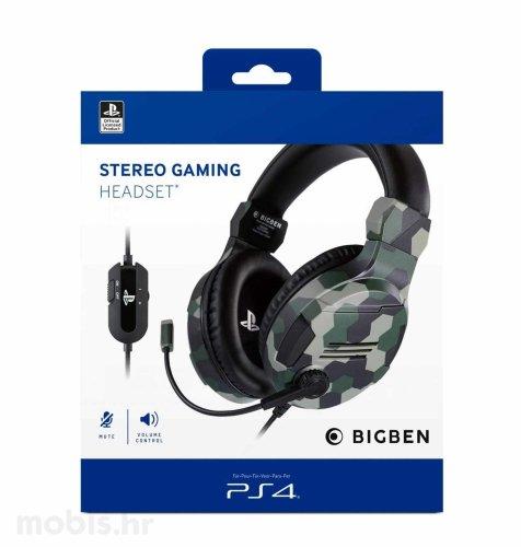 BigBen Stereo Gaming Slušalice V3 za PS4: kamuflažne