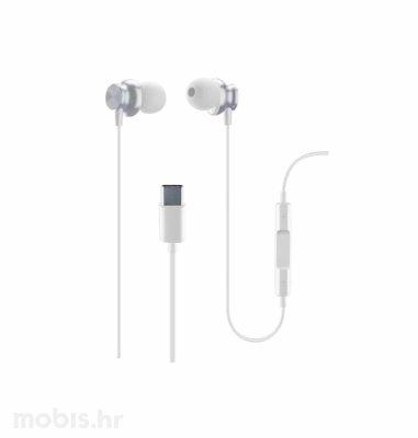 Cellular line slušalice Tip-C Sparrow: bijele