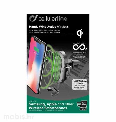 Cellularline punjač za mobitel Handy Wing Wireless: crni