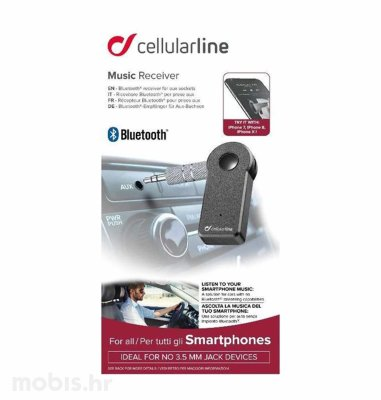 Cellular line bluetooth music prijemnik: crni