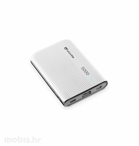 Cellular line prijenosna baterija 5000 mAh: bijela