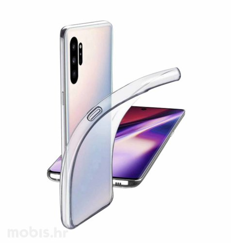 Cellularline silikonska maskica za uređaj Samsung Galaxy Note 10+: prozirna