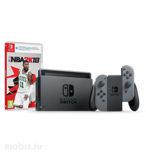 Nintendo Switch Joy-Con Had: sivi + NBA 2K18 Switch