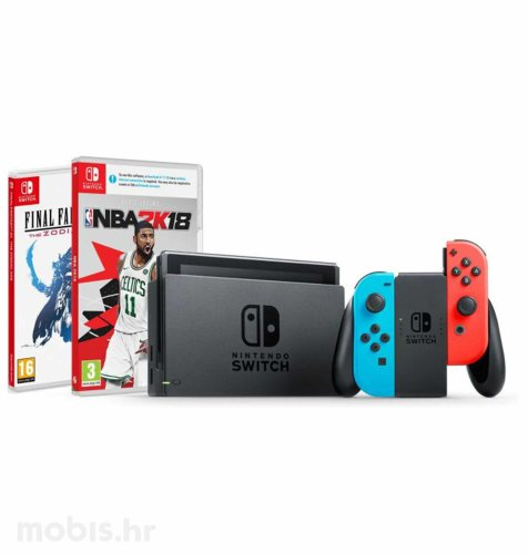 Nintendo Switch Joy-Con Had: crvena i plava + NBA 2K18 + Final Fantasy XII The Zodiac Age Swich