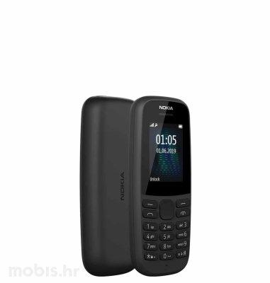 Nokia 105 (2019) dual SIM: crna