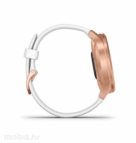 Garmin Vivomove Style: rozo zlatni (bijeli remen)