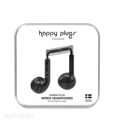 Happy Plugs Earbud Plus slušalice: crno mramorne
