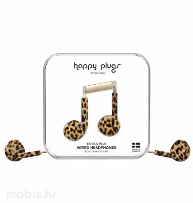 Happy Plugs Earbud Plus slušalice: leopard