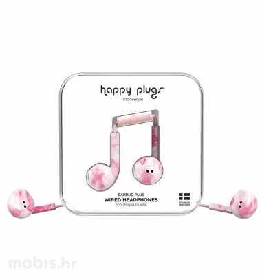 Happy Plugs Earbud Plus slušalice: rozo mramorne