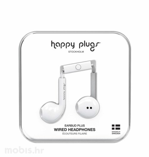 Happy Plugs Earbud Plus slušalice: bijele