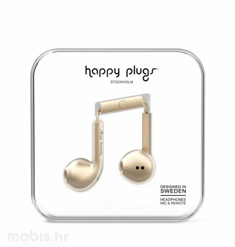 Happy Plugs Earbud Plus slušalice: champagne