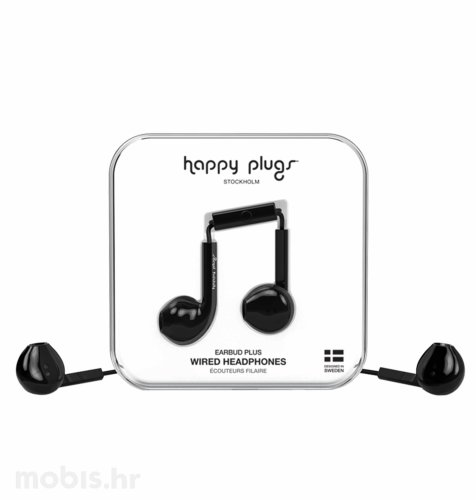 Happy Plugs Earbud Plus slušalice: crne