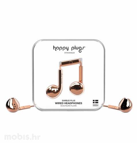 Happy Plugs Earbud Plus slušalice: rozo zlatne