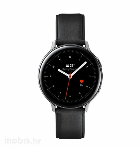 Samsung Galaxy Watch Active 2 (R820): crni kožni remen-srebrno kućište