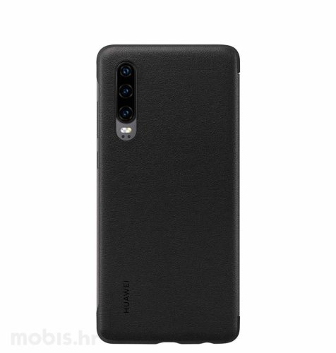 Preklopna maska za Huawei P30: crna