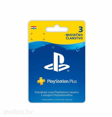 PlayStation Plus Card 90 Days Hanger bon