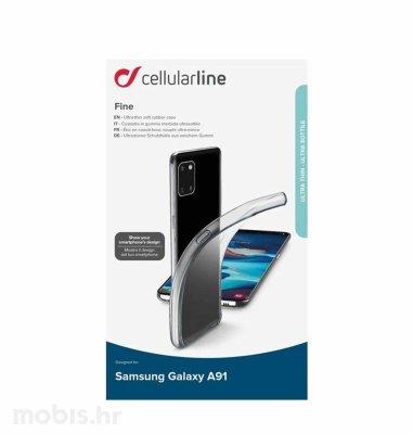 Cellular line silikonska maskica za Samsung Galaxy S10 Lite: prozirna