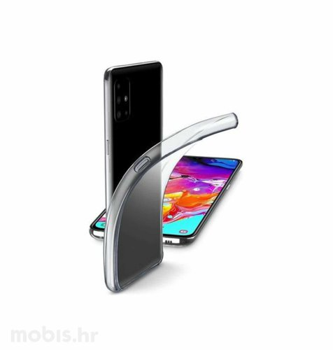 Cellular line silikonska maskica za Samsung Galaxy A71: prozirna