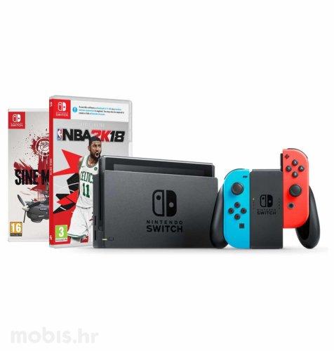 Nintendo Switch Joy-Con Had: crvena i plava + Sine Mora Ex Switch