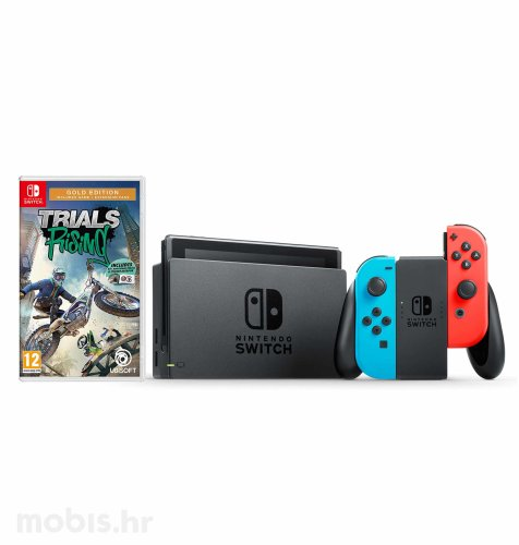 Nintendo Switch Joy-Con Had: crvena i plava + Trials Rising Gold Edition Switch