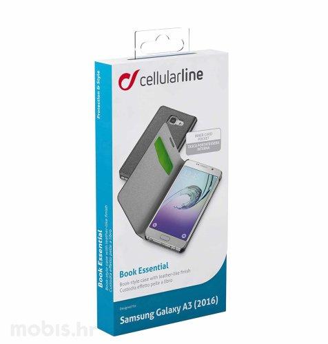 Cellular line preklopna maskica za Samsung Galaxy A3 2016: crna