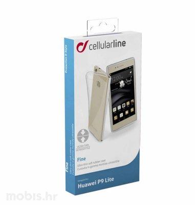 Cellular line silikonska maskica za Huawei P9 Lite: prozirna
