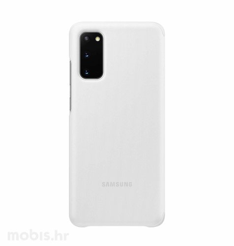 Clear View maska za Samsung Galaxy S20: bijela