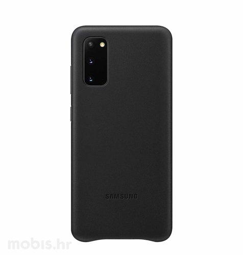 Kožna maska za Samsung Galaxy S20: crna