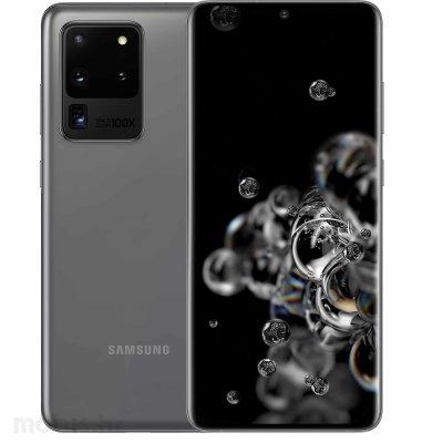 Samsung Galaxy S20 Ultra 5G 12GB/128GB: svemirsko sivi + Clear View maska: crna