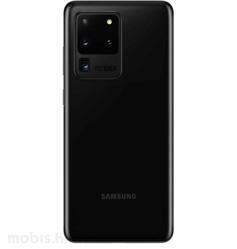 Samsung Galaxy S20 Ultra 5G 12GB/128GB: svemirsko crni + Clear View maska: crna