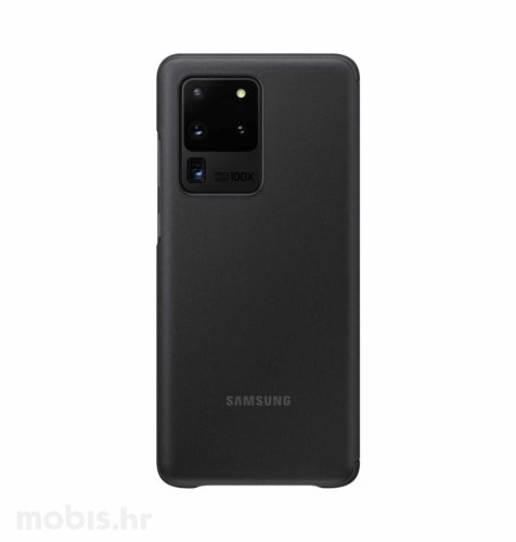 Clear View maska za Samsung Galaxy S20 Ultra: crna
