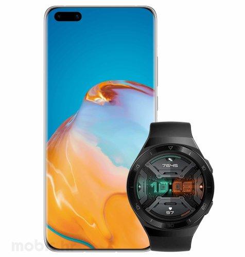 Huawei P40 Pro+ 5G: crni + Huawei Watch GT 2E: crni + Huawei bežični punjač